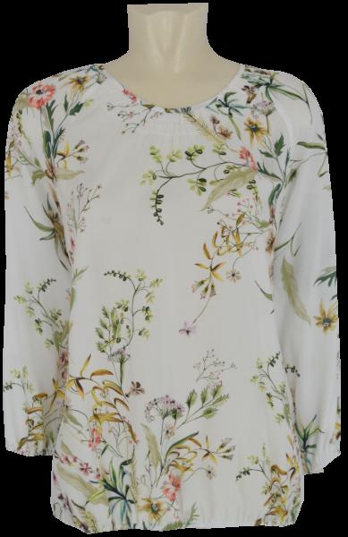 3/4 Arm Blusen Shirt in floral gemustert