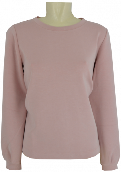 Edler Sweat-Pulli in uni powder