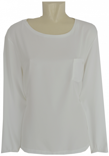 Shirt-Bluse mit 1/1 Arm in offwhite