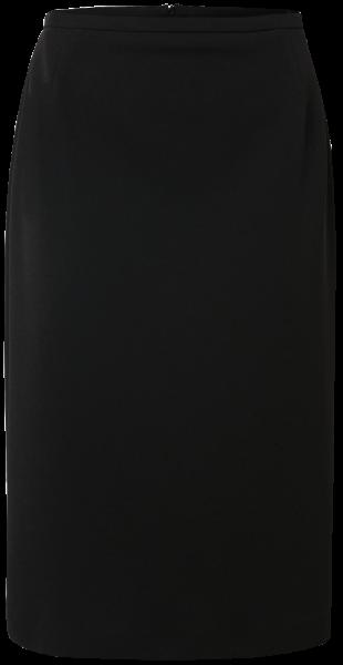 Jersey-Crepe Rock in schwarz