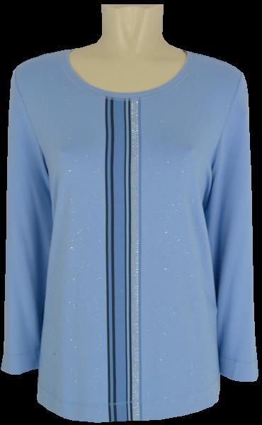 3/4 Arm Shirt in bleu mit Glanz