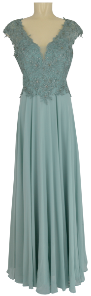 Langes Ballkleid in gray mist