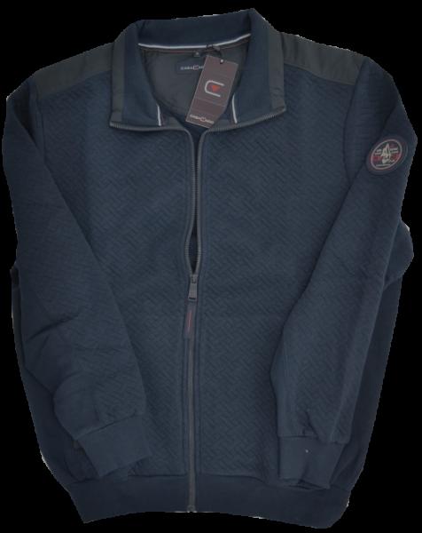 Sweat-Shirt Jacke in marine blau-Copy