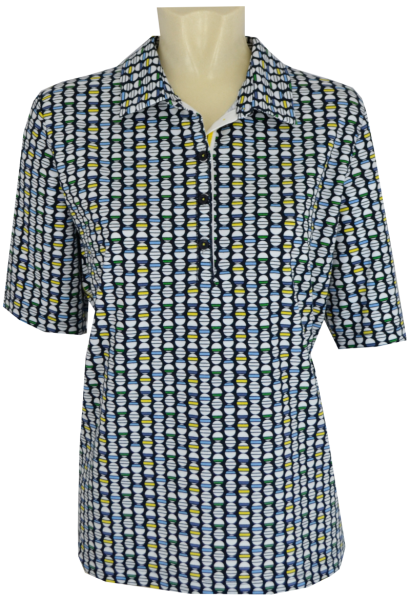 1/2 Arm Polo Shirt in allover gemustert