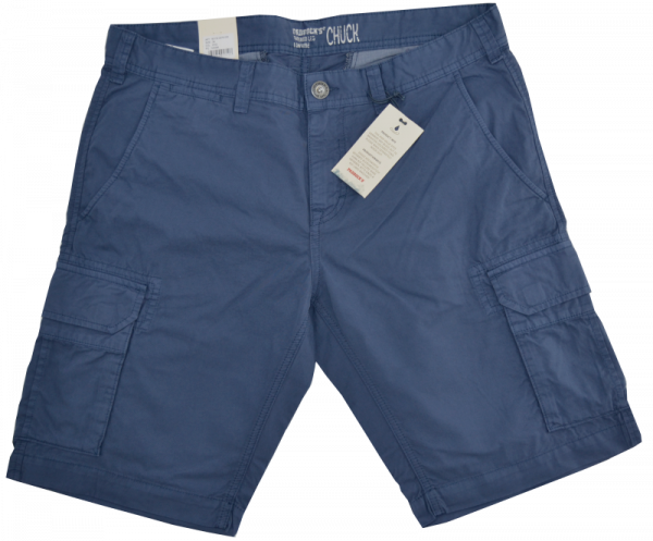 Baumkwoll Cargo-Bermuda in indigo blue