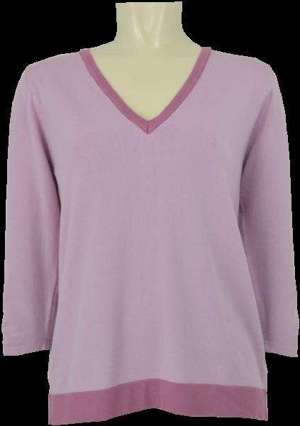 Pullover mit V-Ausschnitt in rose