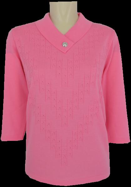 3/4 Arm Pullover in uni flamingo
