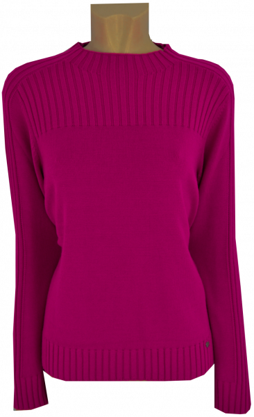 Turtle Pullover mit 1/1 Arm in pink