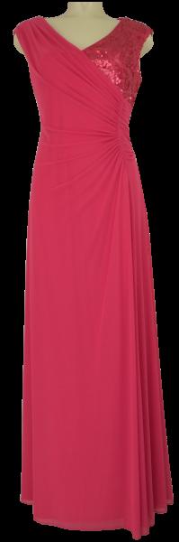 Ballkleid lang in Magenta Rot