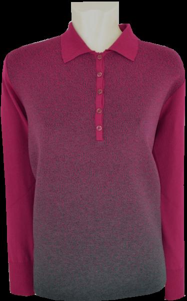Pullover mit Kragen in mehrfarbig mit vino