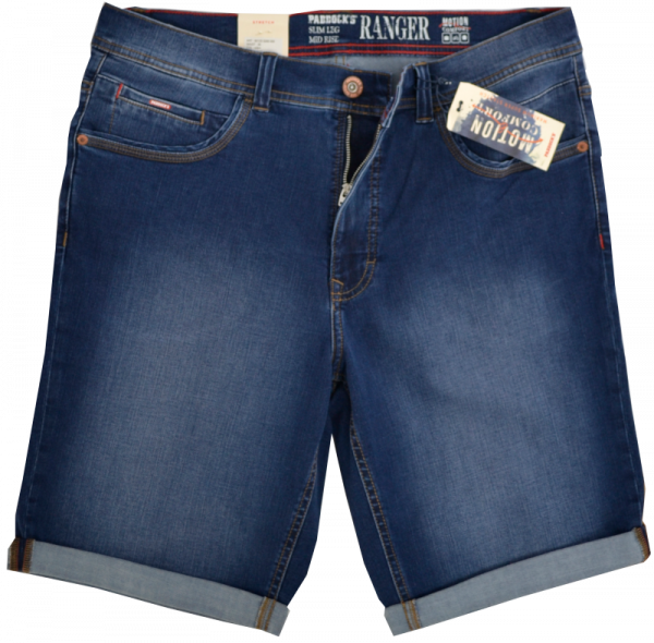 Jeans Bermuda in blue-rised