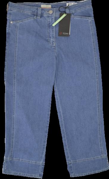 Capri-Jeans in blue stone