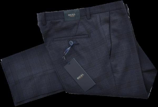 Anzughose SLIM FIT in dunkel blau kariert