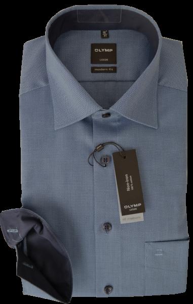 Business und Freizeithemd in Taubenblau