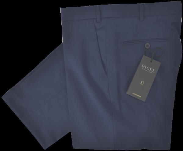 Anzughose mit normaler Passform in mittel blau mit feiner Struktur