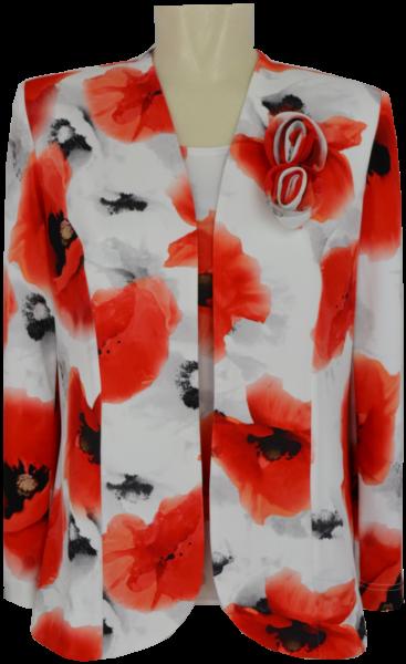 Jacke mit Top in floral gemustert