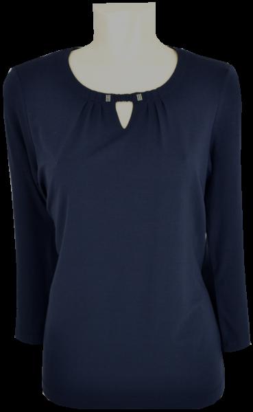 Shirt mit 3/4 Arm in marine blau