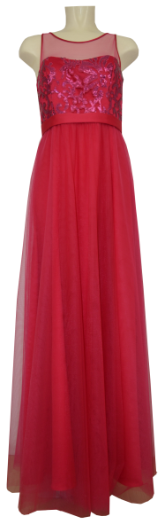 Langes Abendkleid in barberry