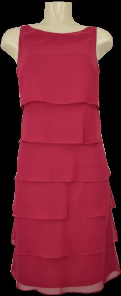 Mittellanges Volant Kleid in persian pink