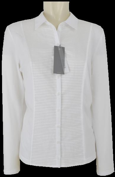 1/1 Arm Jersey Bluse mit Biesen in weiß