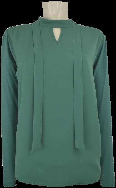 T-Shirt mit Bändchen in smaragd
