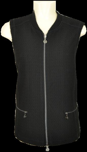 Jersey Weste in schwarz mit Struktur