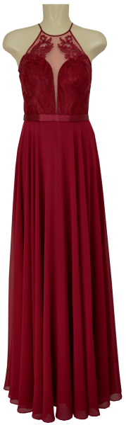 Langes Ballkleid in grenadine red