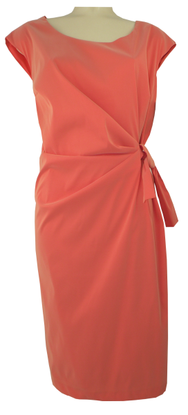 Mittellanges Kleid in orange