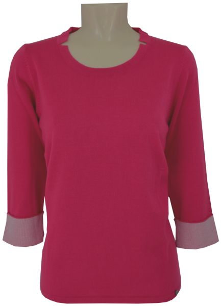 Pullover mit 3/4 Arm in candy