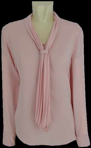 Bluse in rose mit Schluppe
