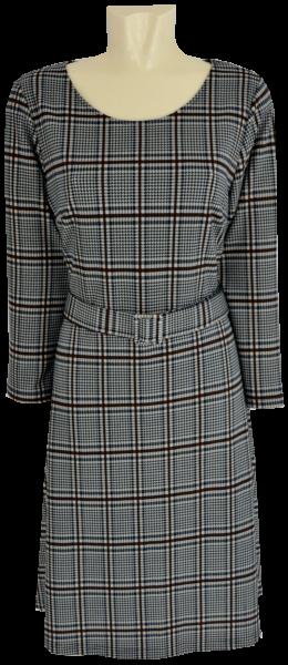 Mittellanges Kleid mit Glencheck Karo