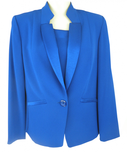 Jacke mit Top in Royal-Blau
