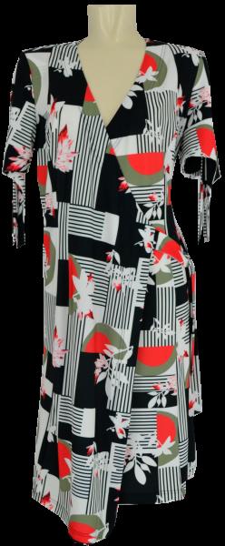 Kleid in Lagen Optik un floral gemustert