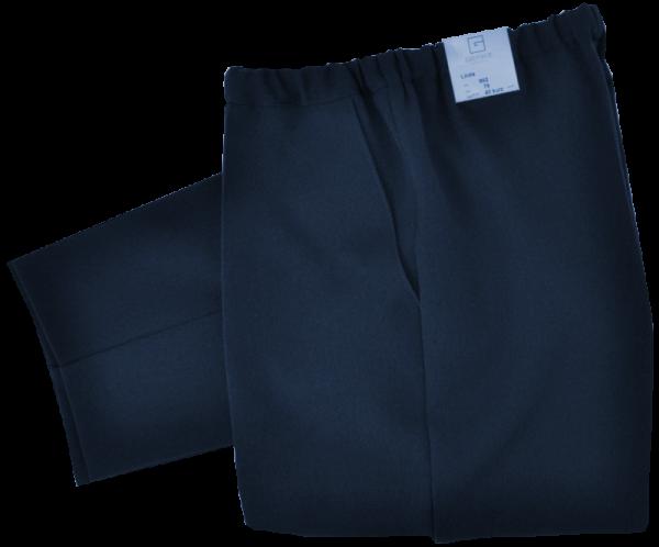 Stoff Schlupfhose in dunkel blau