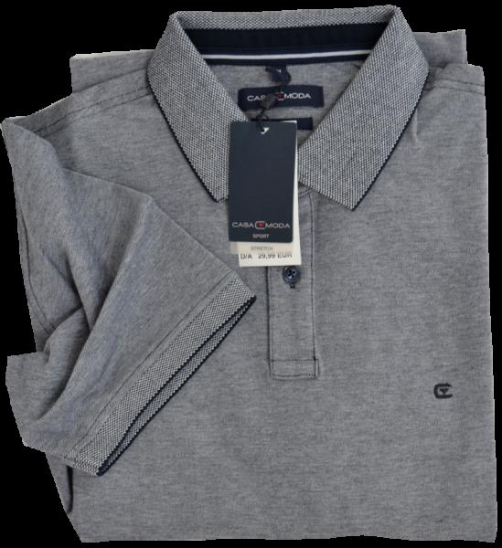 1/2 Arm Polo Shirt in dunkel blau meliert