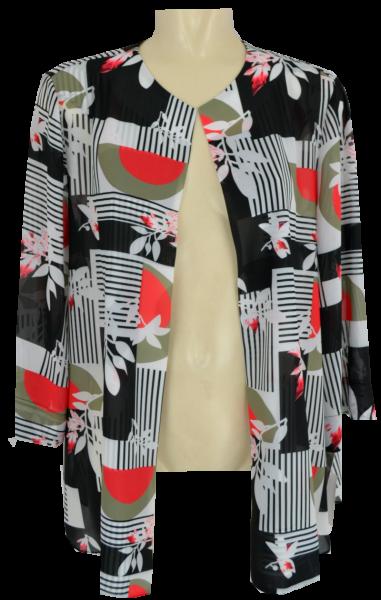 Leichte Blusen-Jacke in floral gemustert